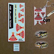 HB und Rothmans Decals für Audi Sport quattro, für Minichamps,1:43,metallic Gold
