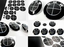 BLACK CARBON FIBER Complete Set of Vinyl Sticker Overlay All BMW Emblems