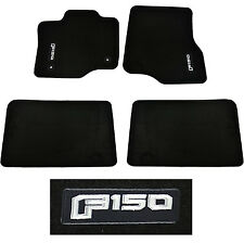 OEM NEW 2015-2016 Ford F-150 SUPER CAB Carpet Floor Mats BLACK Embroidered Logo