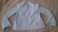 Blunauta Cotone Roma Italy  zip up jacket coat Womens Size 44/12 powder blue