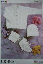 Baby Knitting Pattern 4 Ply   -   UKHKA 35