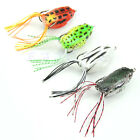 1pc Hot Cute Large Frog Topwater Fishing Lure Crankbait Hooks Bass Bait Tackle