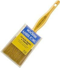 "Wooster 2.5"" Flat Amber Fong Paint Brush Natural China Bristle Oil Paint Stain"