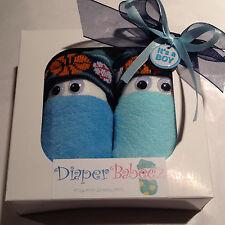Swaddle Newborn BOY DIAPER BABIES Cupcake Box Baby Shower Gift Washcloth Socks