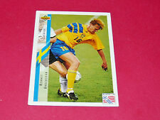 KENNET ANDERSSON SVERIGE FOOTBALL CARD UPPER USA 94 PANINI 1994 WM94 COUPE MONDE