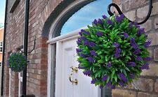 2 Best Artificial 30cm Purple Lush Lavender Topiary Balls Christmas Gift New