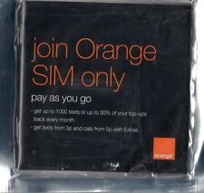 OLD Orange 2G Mobile Phone Sim Card Simcard for Vintage & Retro 2G Phones
