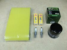 KAWASAKI AIR + OIL FILTER 2 NGK CR7E SPARK PLUGS TUNE UP KIT BRUTE FORCE 650 750