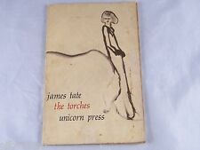 """1971  """"THE TORCHES"""" ~ A BOOK OF POEMS BY JAMES TATE ~ UNICORN PRESS ~ 2nd ED"""