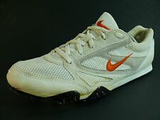 Women's NIKE ZOOM Shoes Size US9/EUR42.5 White Leather Track JUST DO IT L6