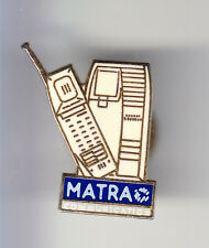RARE PINS PIN'S .. AVION PLANE ARMEE TELECOM MATRA TELEPHONE BLANC WHITE ~BT