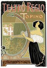 Art Deco Theatre Regio Torino Italy A3 Art Poster Print
