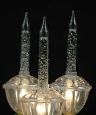 2 Pack Bubble Light Replacements - Clear with Silver Glitter - 2 Bubble Lights