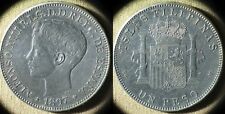 Philippines:1897Sgv 1 Peso Xf-Au Possible Cleaned In Past Very Nice #149 Ir5072