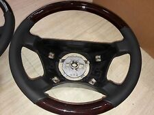 For Mercedes W140 S Class Steering Wheel Walnut Black Leather Standard Style New