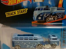 1/64 Hot wheels 2015 Track Stars Custom Volkswagen VW Hauler Blue vain on cardbo