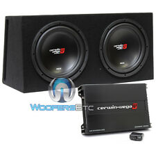 "CERWIN VEGA BKX212V 3000W CAR 12"" SUBWOOFERS SPEAKERS + BOX + BASS AMPLIFIER NEW"