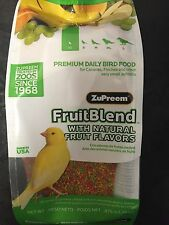 Zupreem FruitBlend bird Food Avian fruit blend pellet diet 14oz XS Canary Finch
