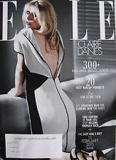 CLAIRE DANES  February 2013 ELLE   MEET THE 14 MOST EXCITING NEW ACTRESSES ON TV