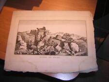fin 18e, début 19e.belle gravure ruines de Delos.Grèce