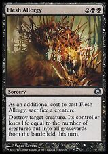 Flesh Allergy X4 EX/NM Scars Of Mirrodin MTG Magic Cards Black Uncommon