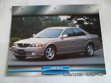 CARTE FICHE VOITURES D'EXCEPTION LINCOLN LS 8