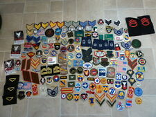 175 Cloth Patches Army Navy USAF MARINE SHOULDER BOARD Rank Insignia Pins HUGE!!