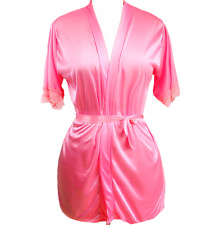 New Women Satin Lingerie Robe Sleepwear Nightwear Kimono Gown Night Dress Set