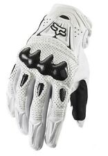 XL CARBON FIBER ~ FOX RACING Bomber White MOTORCYCLE TOURING ATV QUADS GLOVE