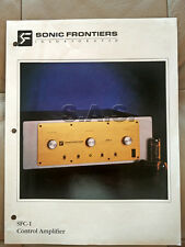 SONIC FRONTIERS OEM PRODUCT BROCHURE - SFC-1 VACUUM TUBE INTEGRATED AMP - NICE!