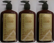 Lot of 3 Amir Argan Oil Daily Moisturizer Lotion w/ Sunless Body & Face Tanner