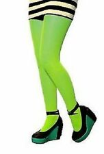 High Quality Women Girls Neon Green Tights Fancy Dress Hoisery Funky Party Fun