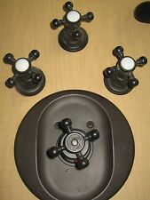 California Faucets TO-6003L-ORB Del Mar Set of 3 Cross Handle Tub & Shower trim