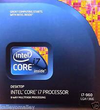Intel BX80601960 SLBEU Core i7-960 Processor,8M Cache, 3.20 GHz, 4.80 GT/s NEW