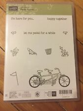 Stampin' Up! 2016 Sale-A-Bration Pedal Pusher stamp set Photopolymer Bicycle