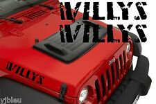 2x  Jeep Wrangler Willys Hood Decal Stickers graphics