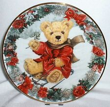 Franklin Mint Sammelteller ~ TEDDY'S WINTER WONDERLAND ~ von Sarah Bengry