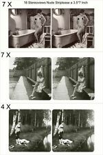 18 neckische Akt - Stereofotos, Zeit zu Baden um 1930, Lot 3 - Stereoviews