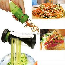 2Pcs Fruit Vegetable Carrot Cutter Twister Food Processor Spiral Slicer Grater