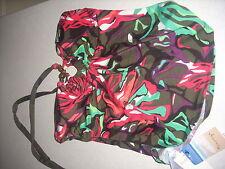 New tropical pink green holiday top tankini bikini size 10 Look