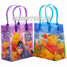 6 Pcs Disney Winnie The Pooh Authentic Licensed Small Party Favor Goodie Bags