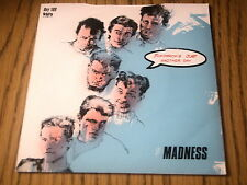 """MADNESS - TOMORROW'S JUST ANOTHER DAY       7"""" VINYL PS"""