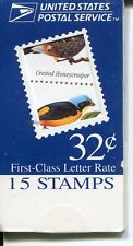 USA Scott BK272 3222-25 Tropical Birds Makeshift Booklet of 15 1998, NH US