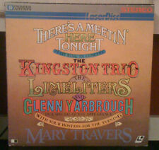 laserdisc THERES A MEETIN HERE TONIGHT kingston trio / limeliters LD laserdisc