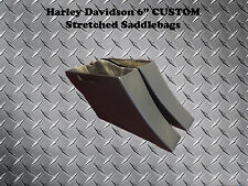 """Harley Down-n-Out 6"""" Custom Stretched Saddlebags - Touring Electra Glide Bagger"""