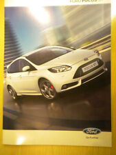 Ford New Focus ST Sales Brochure 2012 New Suit Enthusiast