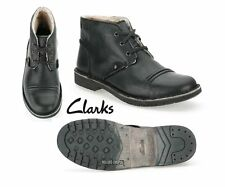 Clarks da Uomo ** movente MIX BLACK Stivali ** Caldi Fodera ** UK 10 / 44,5