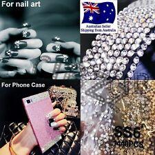 Rhinestone 3D Nail Art Glass Crystal Diamante Craft Grade AAA Mega Pack 1440 PCS