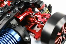 RC Car Hop Up Alloy ADJUSTABLE REAR UPPER ARMS Fit TAMIYA TT01 TT01E Camber RED