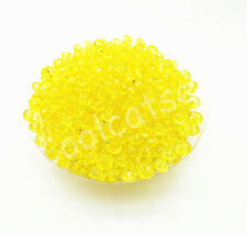 200Pcs 6mm Yellow  DIY Jewelry Rondelle  Acrylic Spacer Loose Beads Free Ship